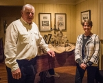 Clinton, MO Artist Martha Aldridge and Liberty Arts Foundation President Bob Steinkamp